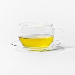Canton Tea Shen Glass theekop en schotel
