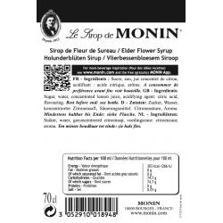 Monin vlierbloesemsiroop ingredienten