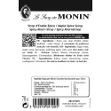 Monin Maple Spice (Spicy Ahorn) siroop