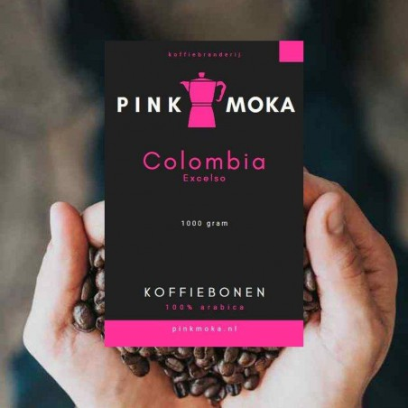 Pink Moka Colombia Excelso koffiebonen