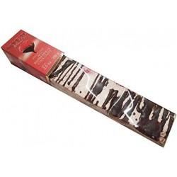 Quaranta zachte nougat met framboos en chocolade