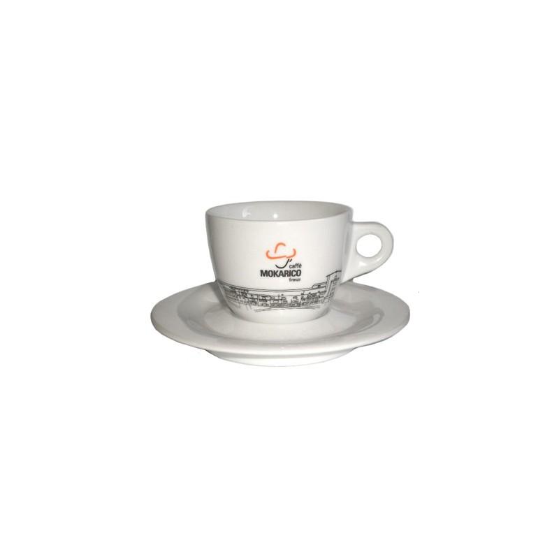 Mokarico Cappuccino Kop en Schotel