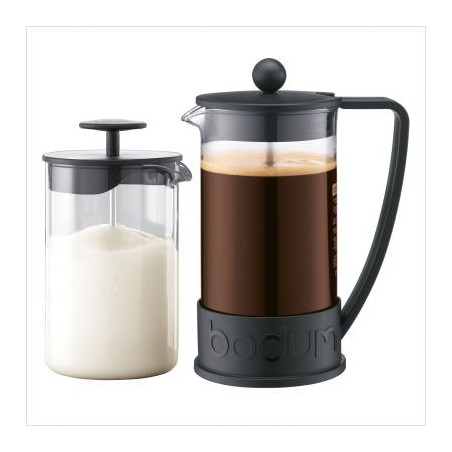 Bodum Set Brazil Cafetiere en Aerius Melkschuimer (K10938-01)
