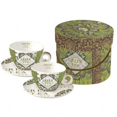 """PPD Theekopjes """"Green Tea"""" in geschenkdoos"""
